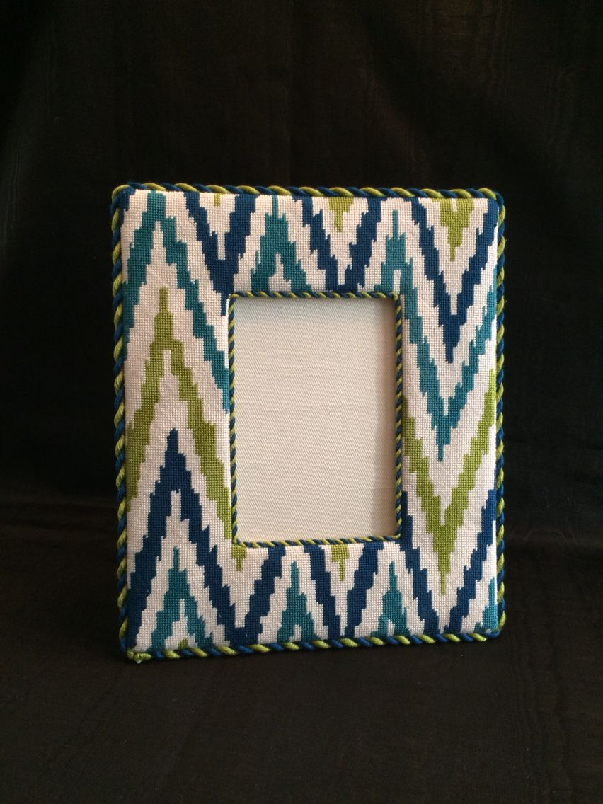 Needlepoint frame ~ canvas design by Kate Dickerson   Needlepoint ...