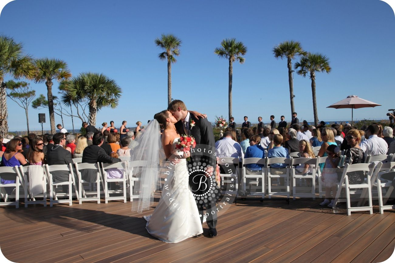Kiss the Bride | Deck Wedding | Westin Hilton Head Island Resort & Spa