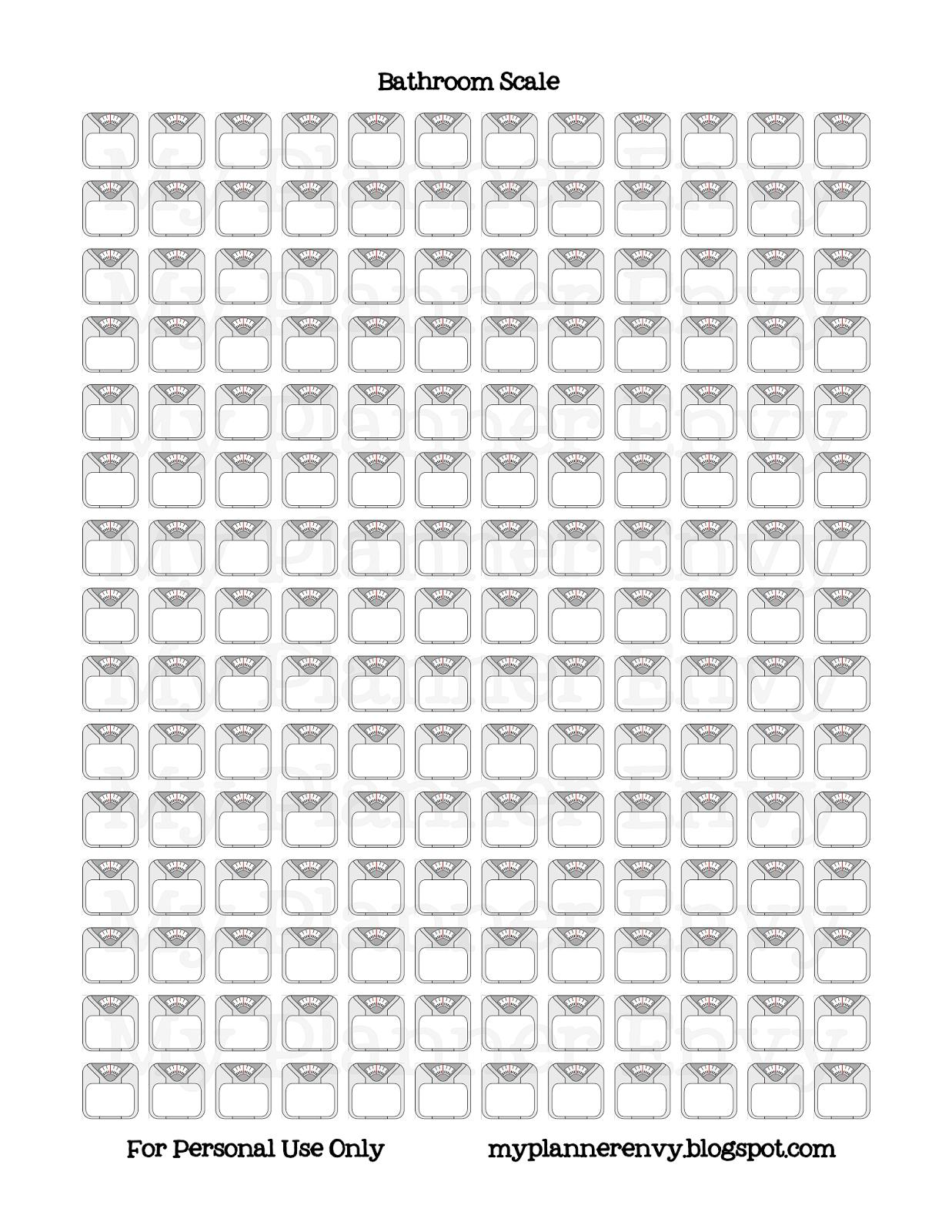 Bathroom Scale Printable - Free Planner Printable Stickers - My ...