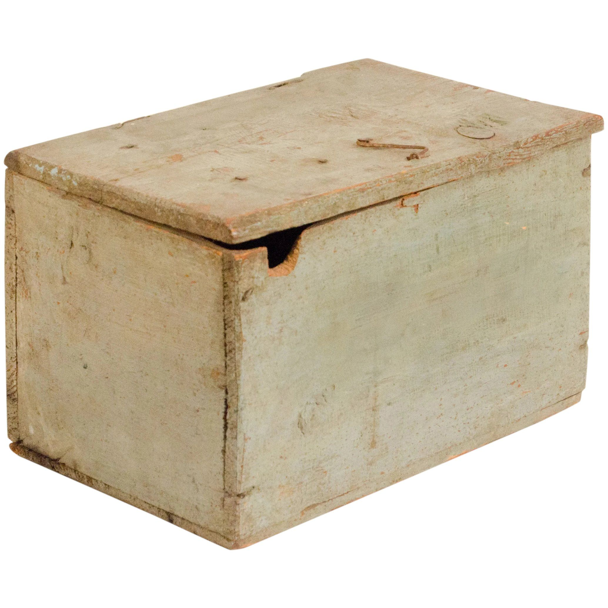 Vintage Swedish handmade Wooden Box with Lifter Handpainted Floral Box Primitive Wood Storage Rustic Kitchen Decor Scandinavian Jar