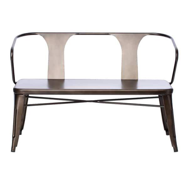 Tabouret Vintage Metal Dining Bench With Back
