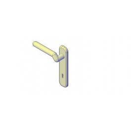 Door Handle 3d Dwg Model 3d Door Cad Models Door Handles