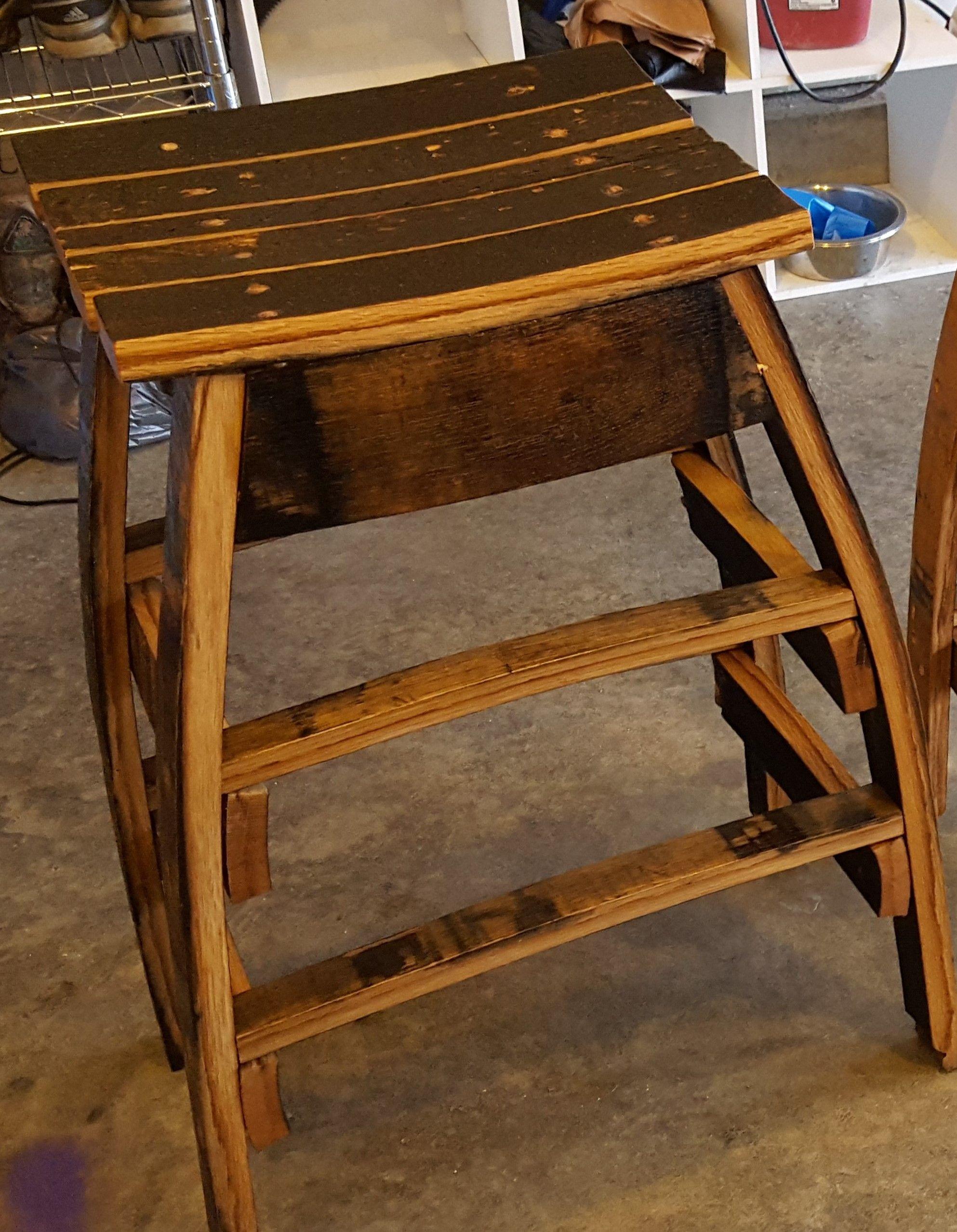 Bourbon Whiskey Barrel Stave Custom Bar Stool Bourbon