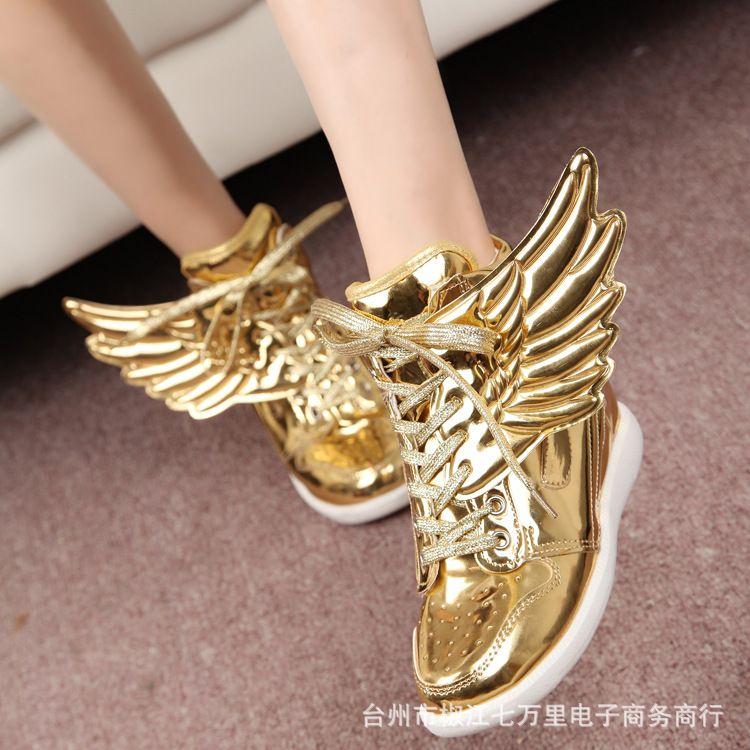 Comprar elegantes nueva alta mujeres de botas de tacones altos en el oro y plata - Con 2 tacones ...