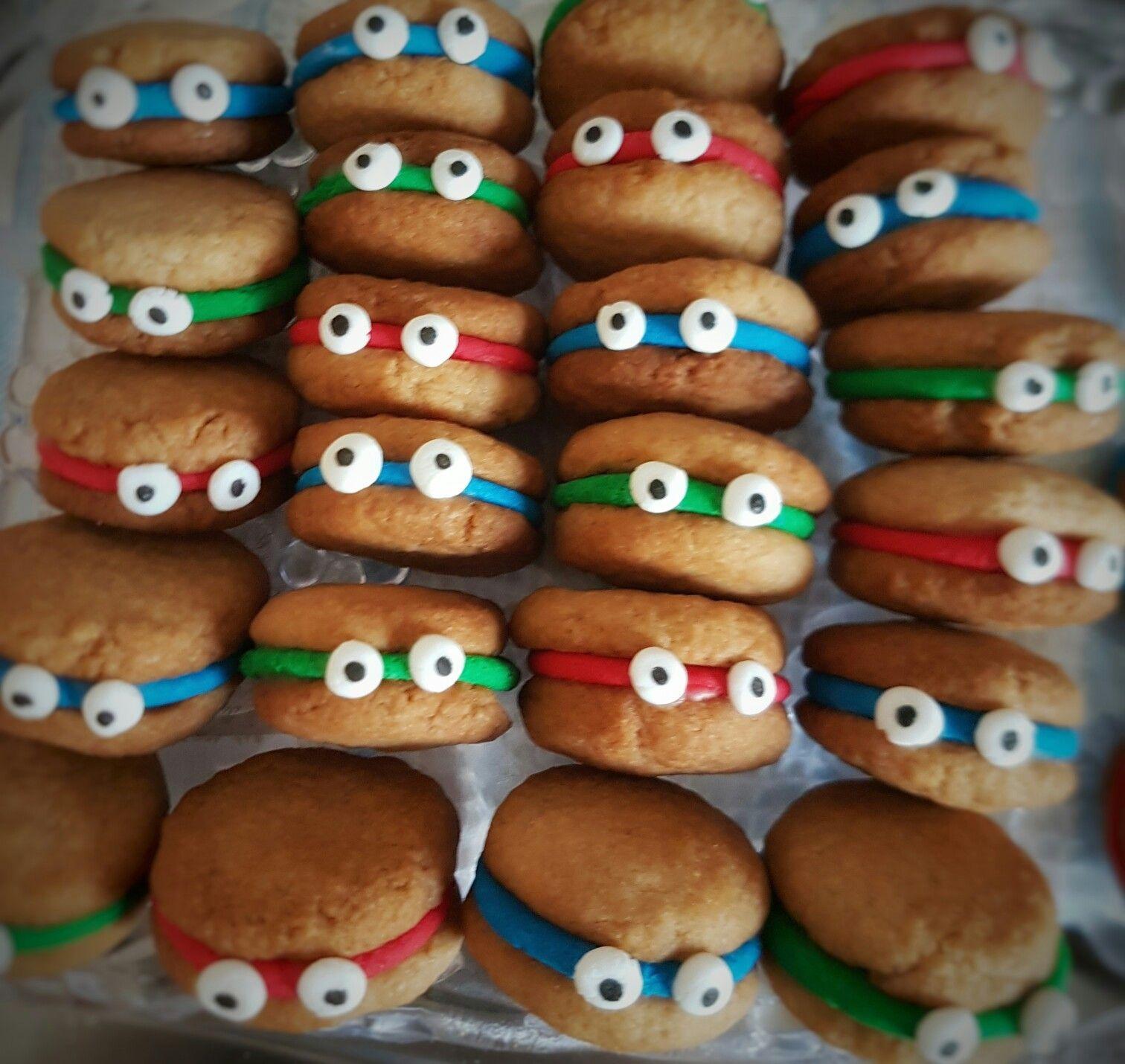 Mini Ninja Turtle cookies