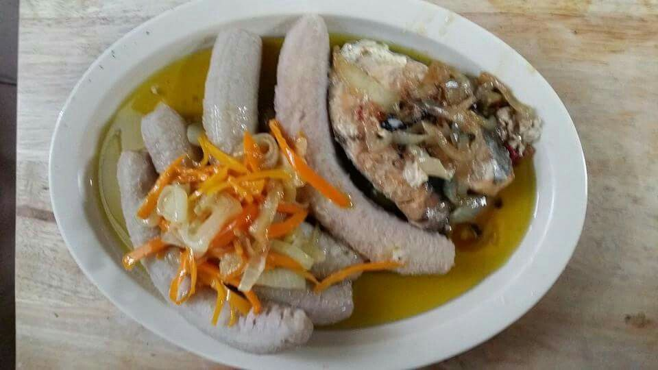 Escabeche De Sierra Con Guineos Verdes Hervido Food Pork Meat