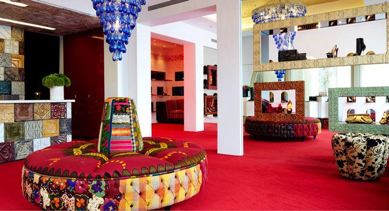 christian louboutin store interior designer