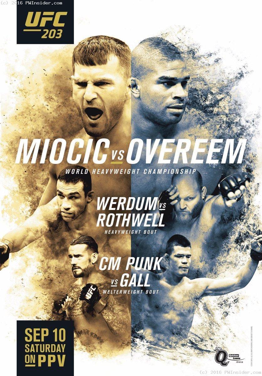 Whougot Ufc 203 Stipe Miocic Vs Alistair Overeem Fightbook Mma Ufc And Combat Sports News Ufc Ufc Poster Cm Punk