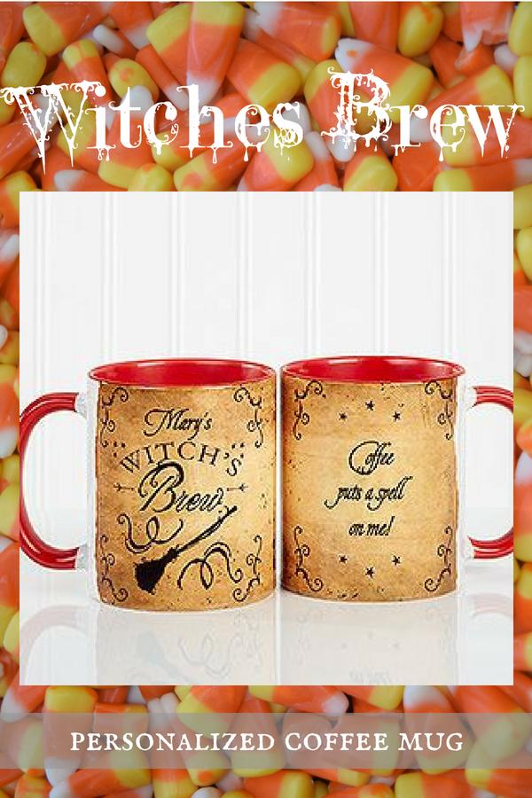 Personalized Halloween Coffee Mug Witch's Brew 11oz
