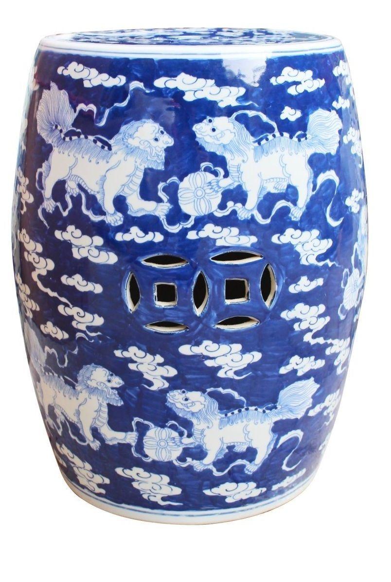 Blue And White Blue And White Stool Blue White Stool Blue And White Stools Blue White Stools Http Ww White Garden Stools Garden Stool Ceramic Stool