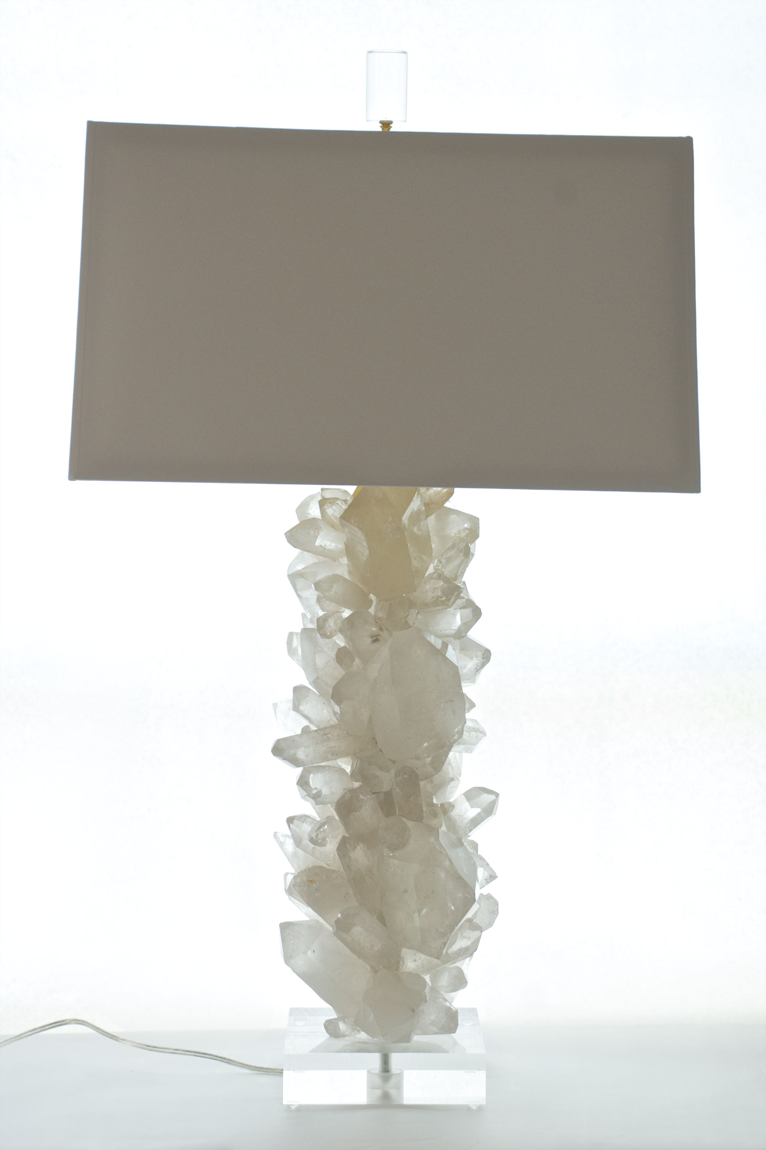 Quartz Crystal Lamp With Acrylic Base Each One Of A Kind Lamp Is