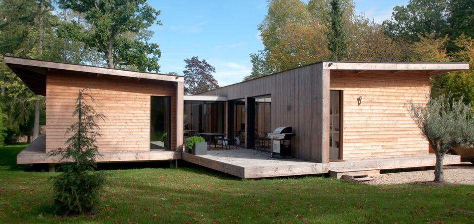 Maison sur un terrain en pente _H Architecte Housse idea - construction maison terrain en pente