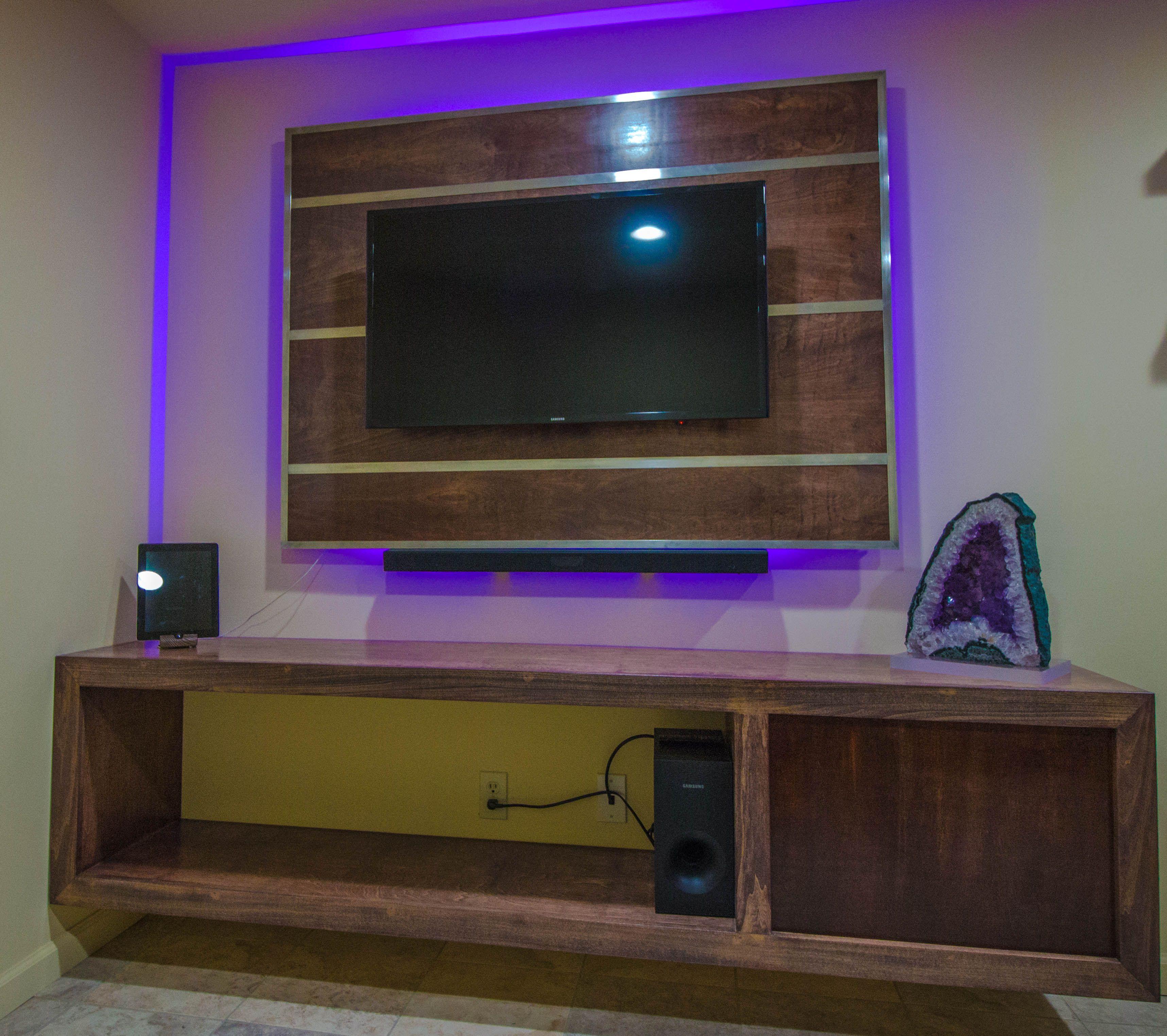 custom tv stands. Led Backlight Custom Tv Backboard, Floating Stand Stands