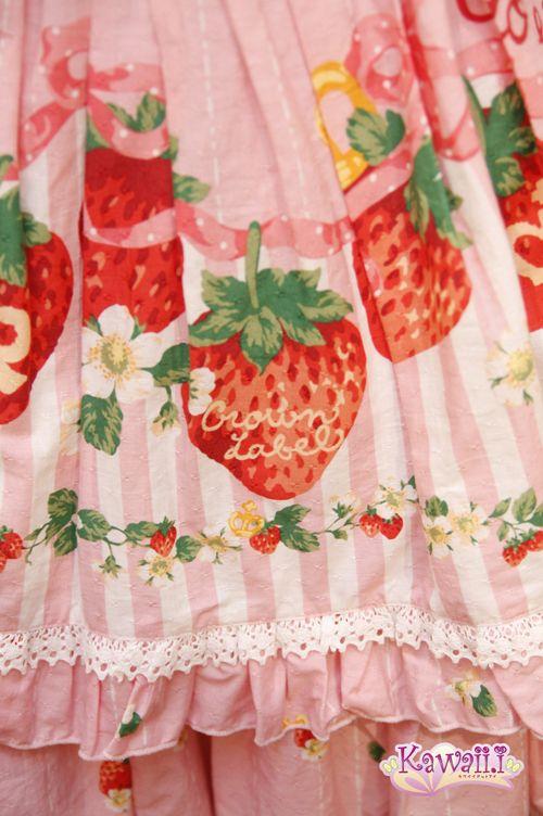 Sweet Lolita - strawberries on a skirt, how cute?