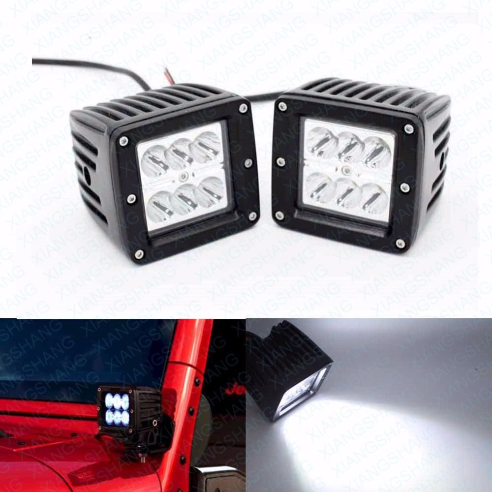 2pcs 3 Inch Spot Car Headlight Led Work Light Bar Off Road Driving Lamp For 12v Truck Motorcycle Boat Tractor Camper Led Work Light Car Headlights Work Lights