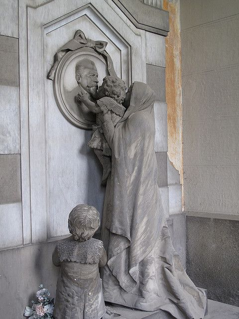 Staglieno Cemetery, Genoa, Italy -If you ever come to Genova, make sure you stop by this cemetery, you will be amazed at the detail in the statues surrounding the tombs. Back then they spared no expense to show how much their loved ones were missed.