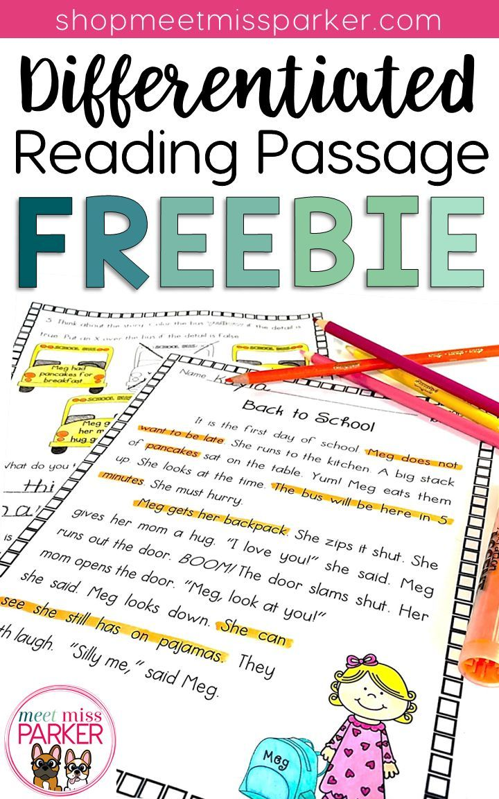 - Differentiated Reading Passage And Questions FREEBIE (With Images