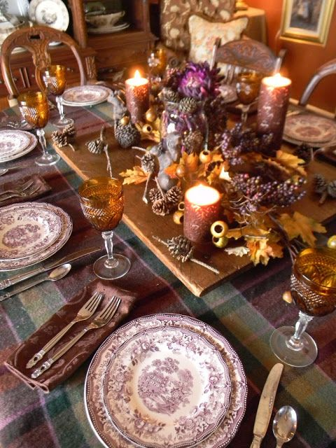 I M Ready For Fall Purple Tonquin Tablescape Thanksgiving Table Settings Transferware Beautiful Table Settings
