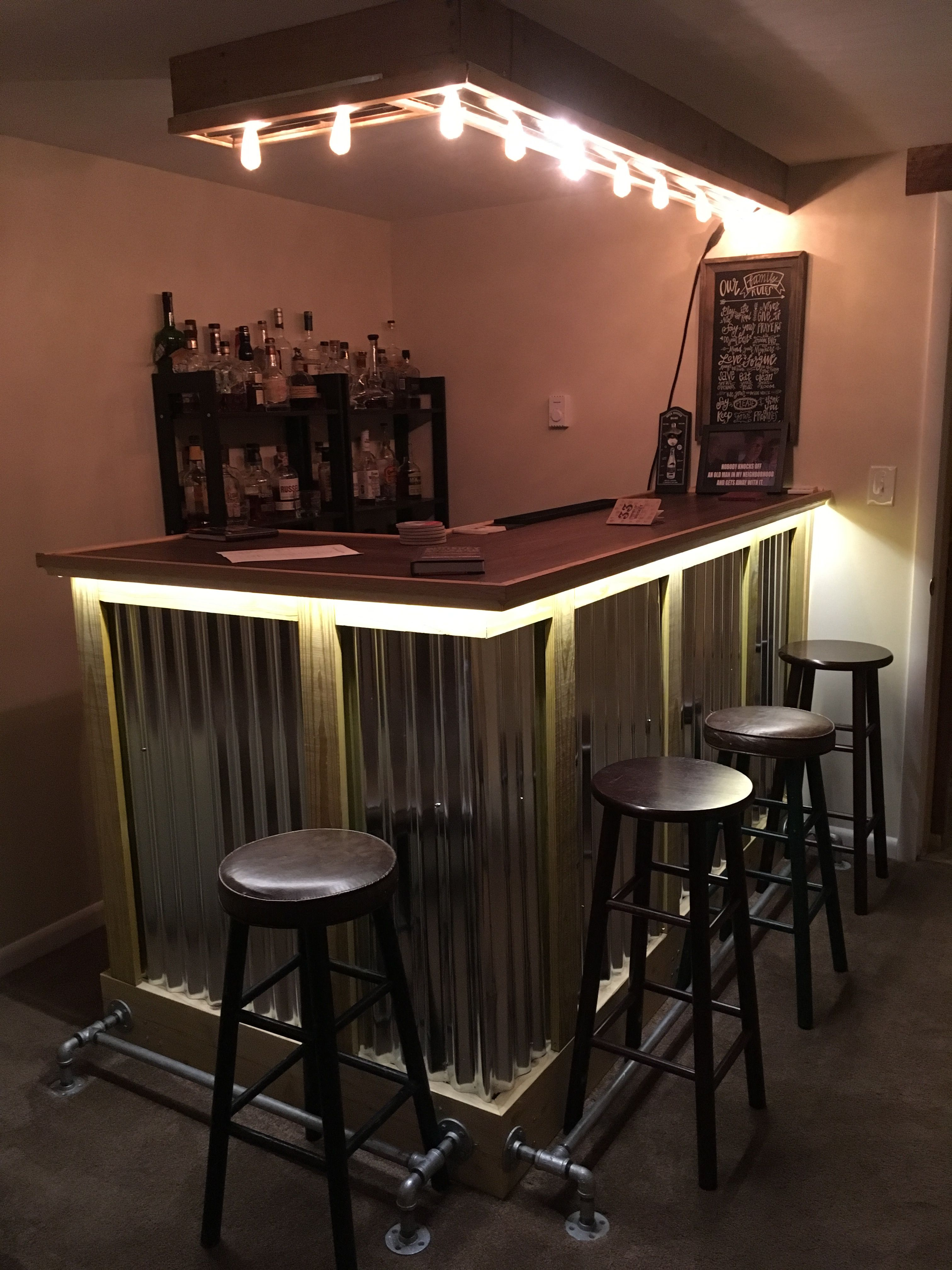 Pin by Tamara Gessay on Basement bar | Garage bar, Home ...