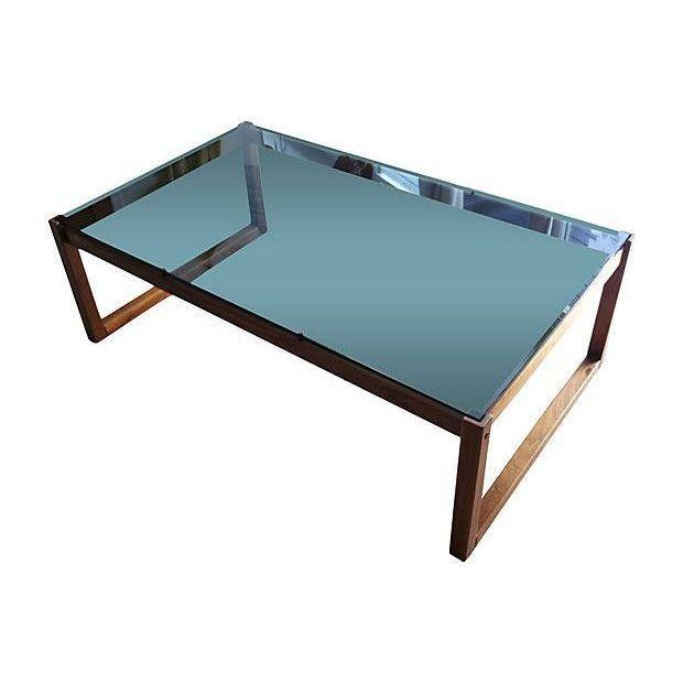 Scandinavian Teak & Glass Coffee Table | Glass coffee ...