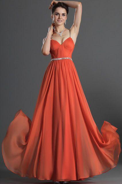 f98479087 Vestidos catorceveinte.com  Fantástico Vestido de Noche con Lentejuelas  Silueta Línea A Correas Espagueti y Largo al Piso Vestido de Prom 01.