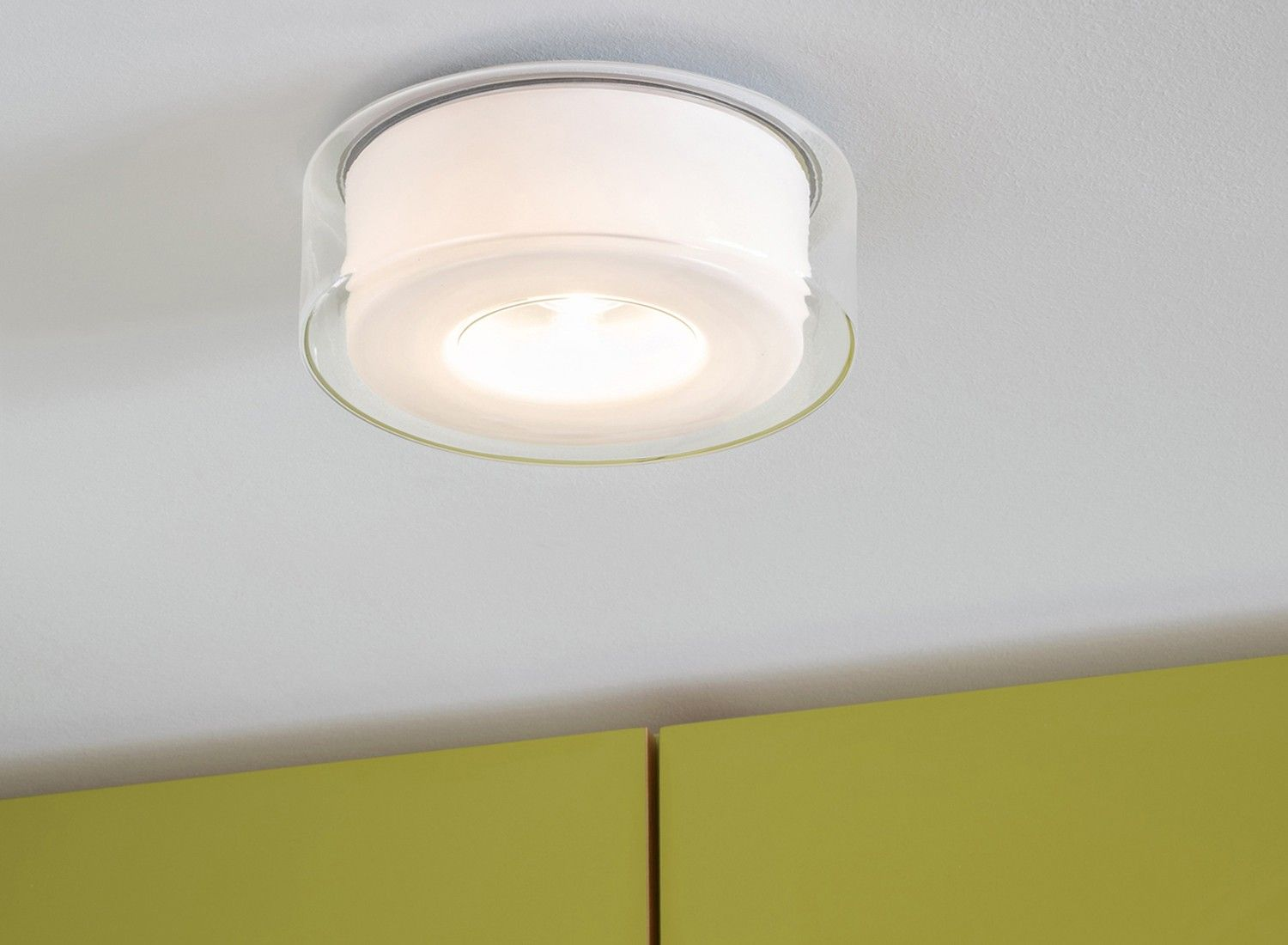 Serien Lighting Curling Ceiling M klar/ zylindrisch opal | Lighting ...