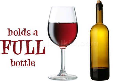 i dont drink, but....Holds an entire bottle of wine! Tired of constantly getting up to refill your glass? Not any more! Sit back, relax and enjoy!
