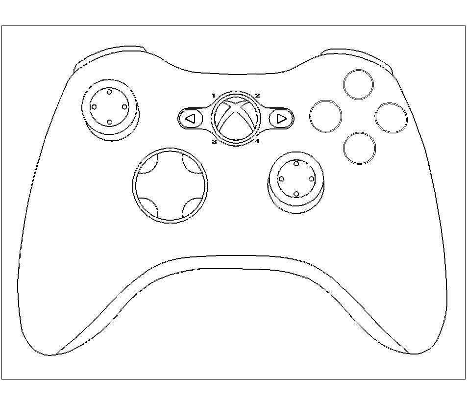 Coloring page xbox controller