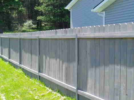 The Versapost Is A Steel Post For Wood Fences That Can Be Made To Look Like Wood Wood Privacy Fence Wood Fence Staining Wood Fence