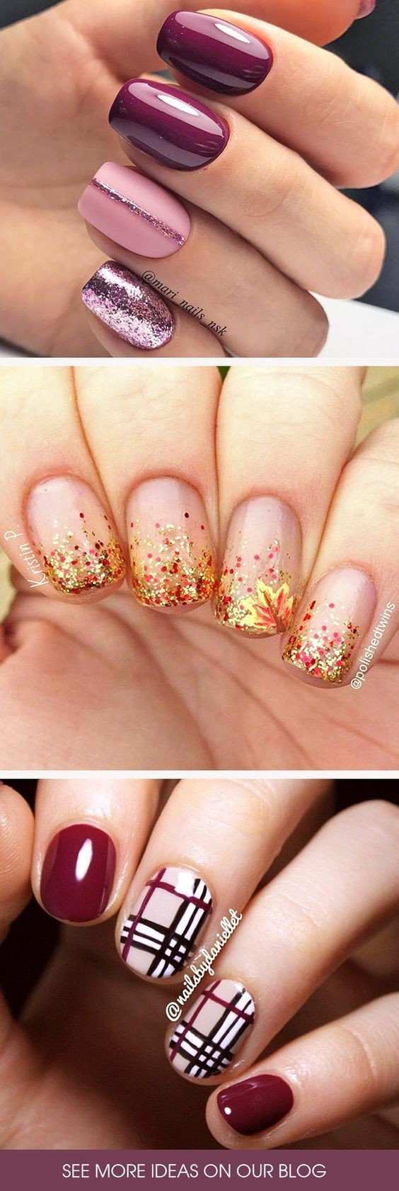 45 Must Try Fall Nail Designs and Ideas | Nageldesign, Nagelschere ...