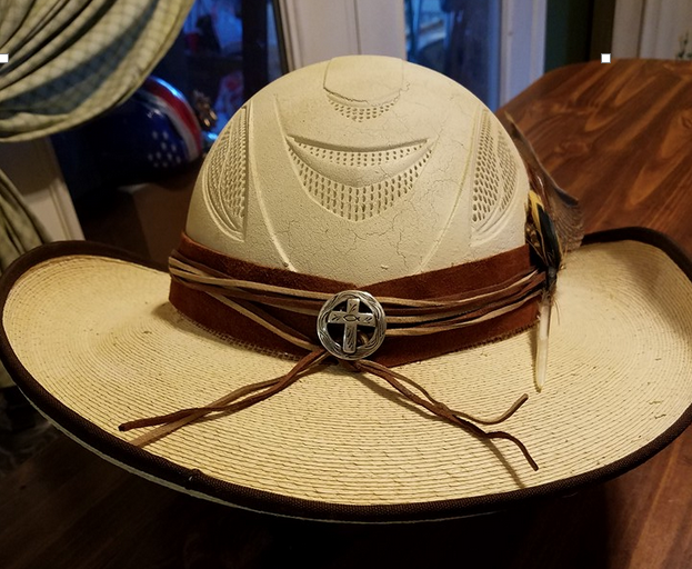 Another Great Idea A Hellhat Combining A Cowboy Hat With A Helmet And It Looks Good The Best Part You Ca Cowboy Hats Horse Riding Clothes Western Helmet