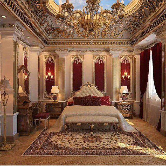 تصميم وتنفيذ اعمال الديكور الداخلي والخارجي وصيانة القصور والفلل خميس مشيط ابها نجران Luxury Mansions Interior Luxurious Bedrooms Luxury Homes Dream Houses