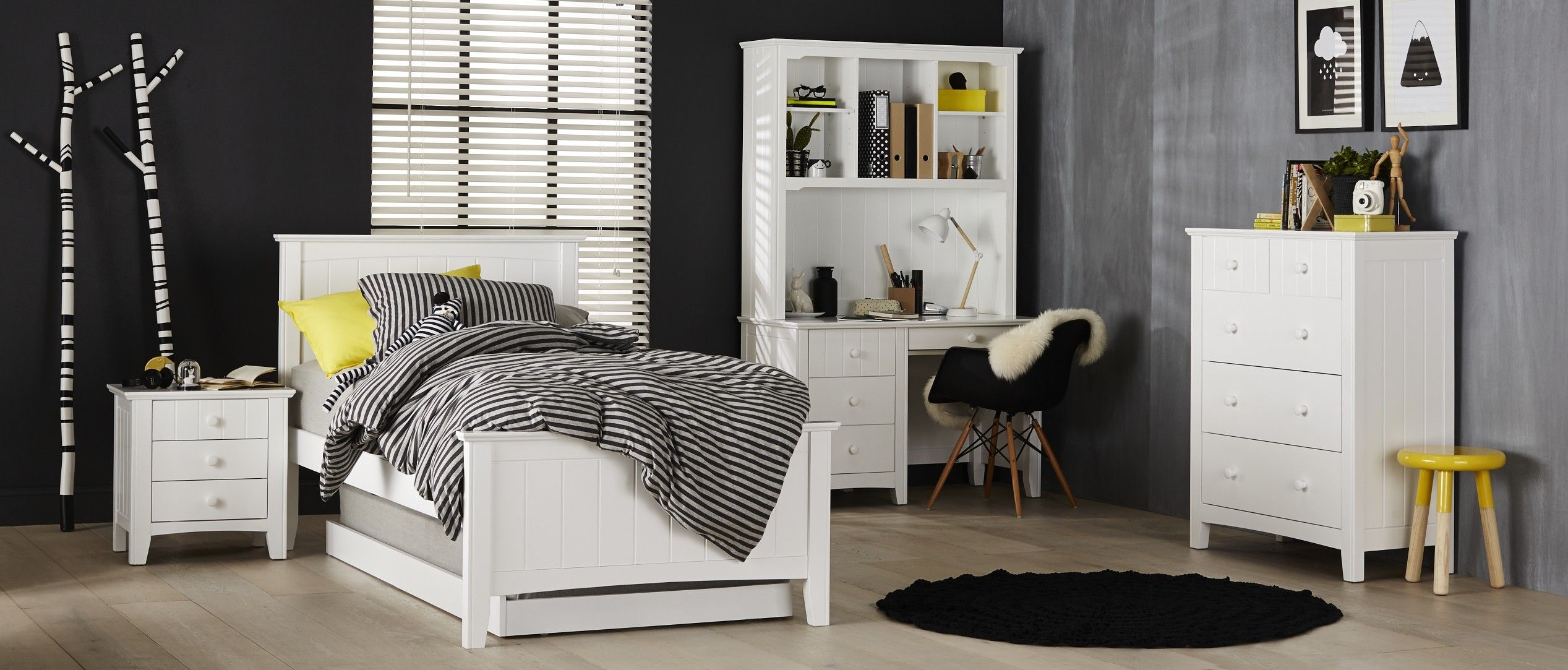 Noah Bedroom Furniture Every Tweens Dream Is Realised With The Suite High Bed Head And Foot End Adds A Hint Of Drama