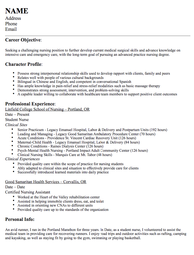 Nurse Medical Surgical Resume Sample  HttpExampleresumecvOrg