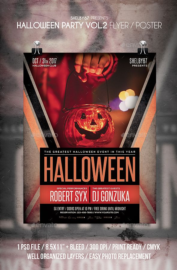 Halloween Party Flyer Poster Vol 2 Halloween Party Flyer Party