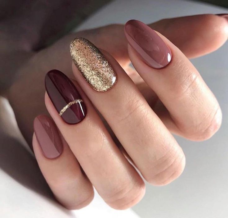 Photo of Manicure trend autumn winter 2018 2019 nude pink burgundy purple golden straw – nail art