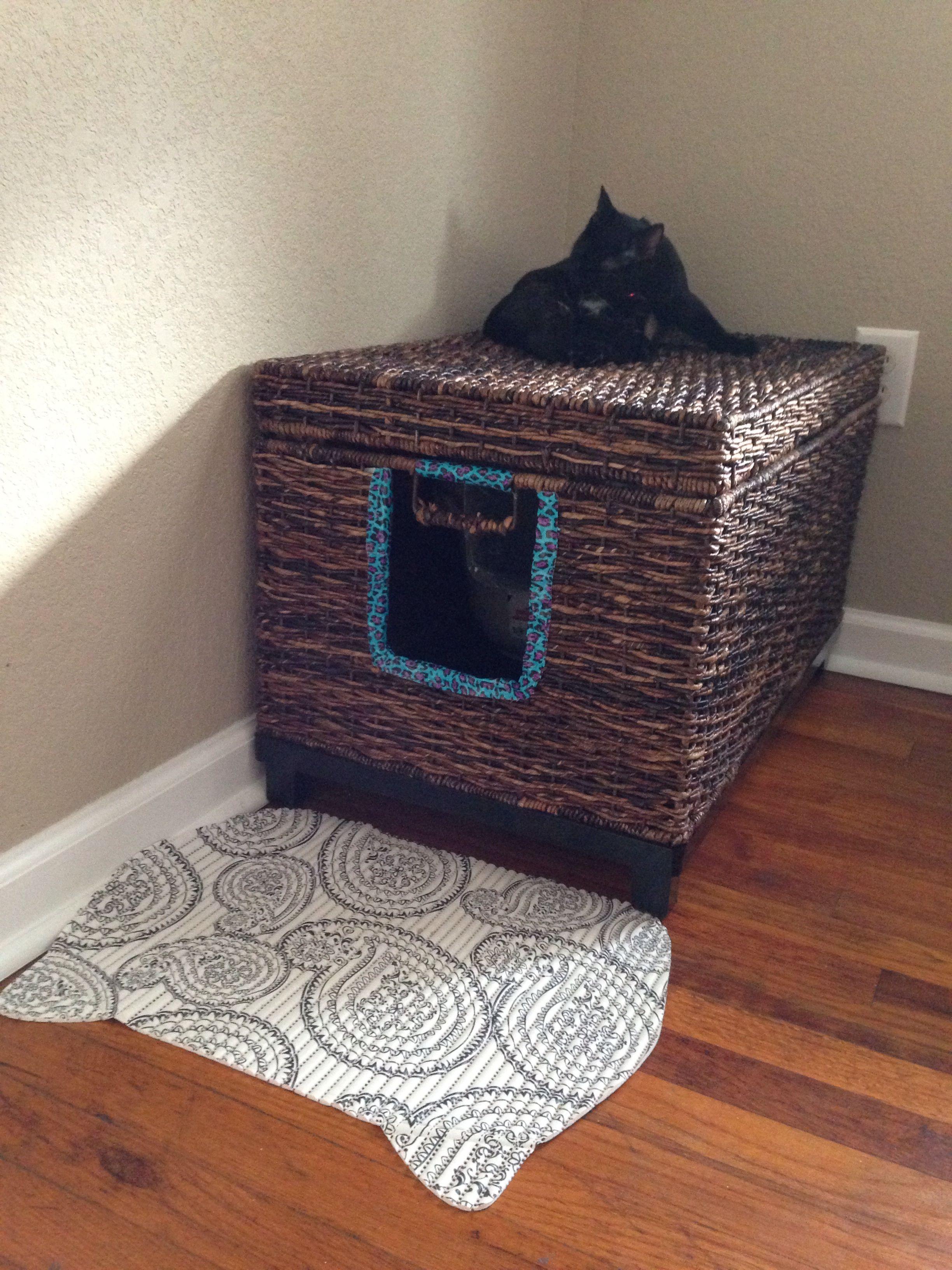 Fancy Kitty Litter Box Cat Box Diy Litter Box Cat Furniture