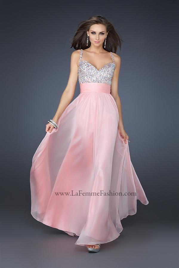 52f0f88a5 Vestidos de Fiesta de La Femme rosa
