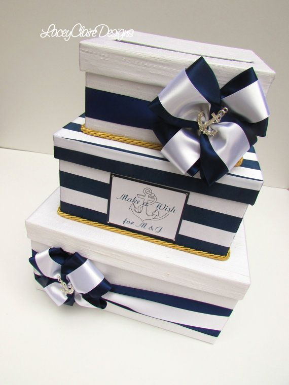 Nautical Wedding Card Box Beach Wedding Card Box Beach Wedding Box