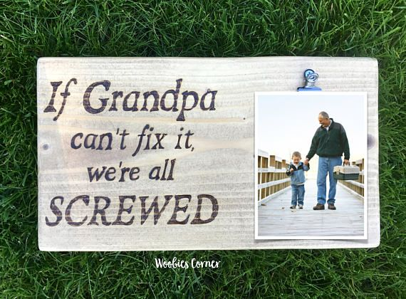 If Grandpa can't fix it, Gift for Grandpa, Grandpa picture frame, Grandpa gifts, Grandpa photo frame, Funny Grandpa gifts, Fathers day gift #grandpagifts