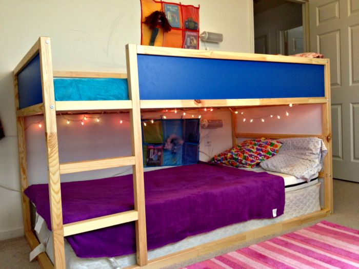Girls Room Kura Bunk Bed From Ikea Cheap Bunks And R Is Still Close To