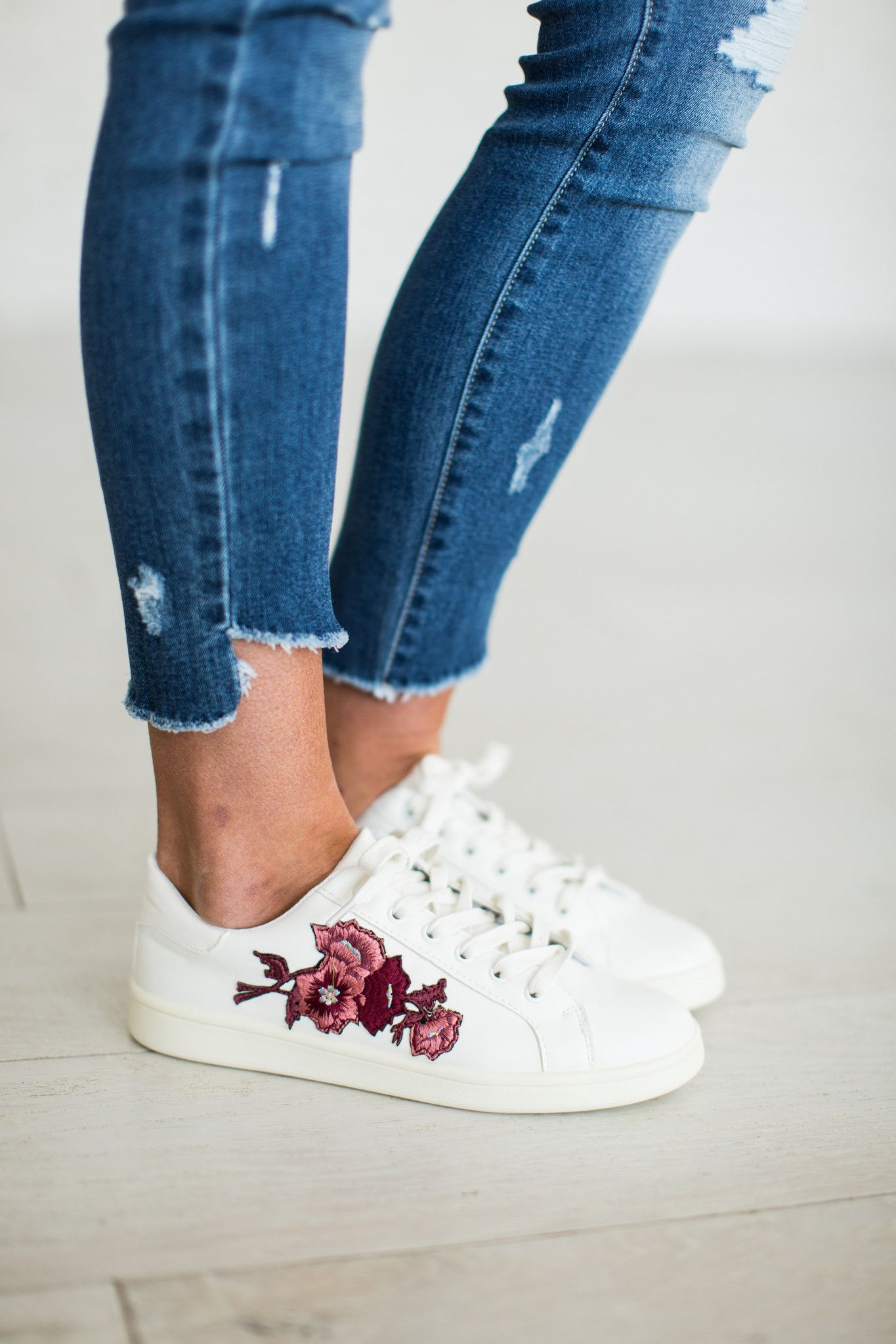 Embroidered Tennies   Fashion shoes