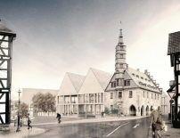 Architekt Rheine zwei giebel gewinnen wettbewerb rathaus korbach entschieden