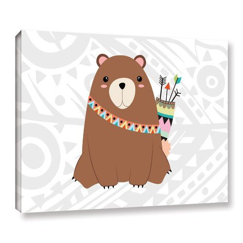 Aida Tribal Bear I Canvas Art Tribal Bear Bear Wall Art Art Wall Kids