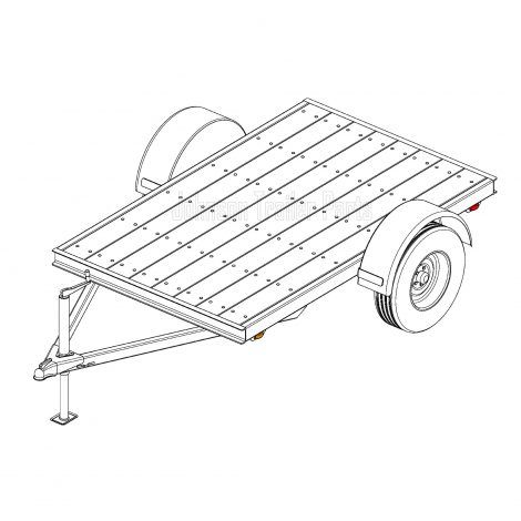 5 X 8 Utility Trailer Plans Blueprints