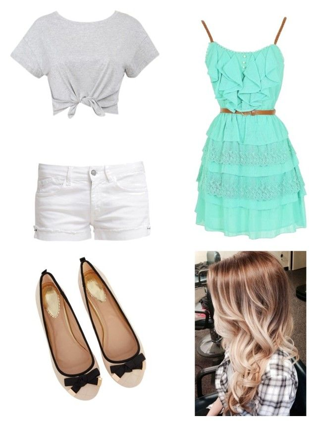 """Juli Date"" by lisamgerold ❤ liked on Polyvore featuring mode, Le Temps Des Cerises et Oasis"
