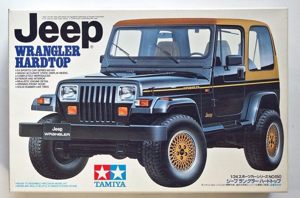 Tamiya 1 24 Jeep Wrangler Hardtop 24150 Scale Model Kit Decal