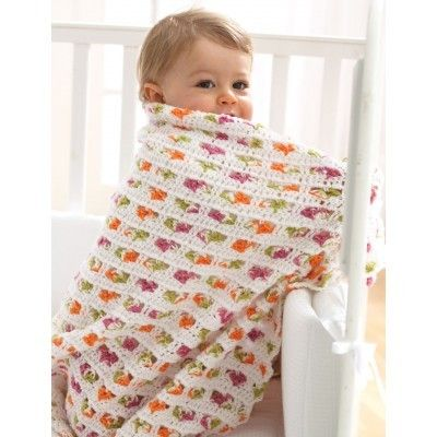 Baby Blanket in Bernat Baby Sport Free | Crochet | Pinterest