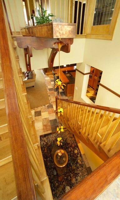 Best Rain Chain Modern Staircase Indoor Fountain Rain Chain 640 x 480