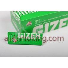 Cod produs: Foite Gizeh V.I. Disponibilitate: În Stoc Preţ: 0,80RON  Foite Gizeh (verde inchis).Foitele sunt albe.  Cantitate 50 foite FINE(17.5g/m).  Cut corners.